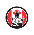 canadian barber canada flag icon vector image vector image