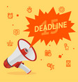 cartoon deadline concept banner poster card vector image