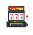cartoon slot machine with one arm gambling vector image