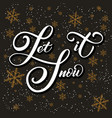 christmas calligraphy hand drawn lettering let vector image vector image