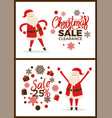 christmas sale clearance -20 vector image vector image