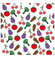 color vegetables background icon vector image vector image