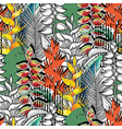 combined heliconia pattern vector image vector image