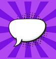comic speech bubble talk crooked oval shape vector image