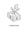 composting waste recycle concept line icon vector image