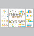 crime law police and justice multipurpose vector image vector image