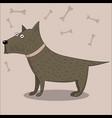 cute cartoon puppy dog vector image vector image
