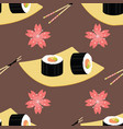 cute japanese food and elements inspired seamless vector image vector image