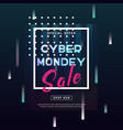 cyber monday concept banner in modern style vector image