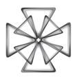 Dark grey cross logo design vector image