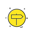 direction right basic icon design vector image