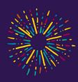 doodle design element hand drawn spark vector image