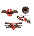 elements and symbols racing sport vector image vector image