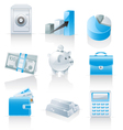 finance and banking icons vector image vector image