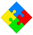 Four colored puzzle together vector image vector image