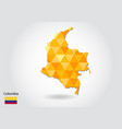 geometric polygonal style map of colombia low vector image