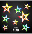 glow particolored stars vector image