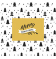hand-drawn card with xmas trees vector image vector image