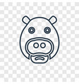 hippopotamus concept linear icon isolated on vector image