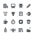 Home office icon set vector image vector image