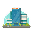 hotel isolated on city street vector image vector image