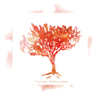 Imitation watercolors - autumn trees vector image