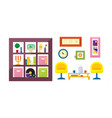 interior a living room with furniture vector image vector image