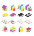 isometric books school textbook book vector image vector image