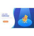 isometric web banner ergonomic office chair under vector image vector image