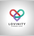 lovinity - infinity love logo image with infinity vector image vector image