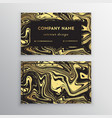 luxury business card with marble texture and vector image vector image