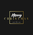 merry christmas and happy new year luxury black vector image vector image