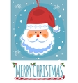 Merry Christmas post card with Santa Clause vector image