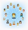 modern web social media network schem vector image vector image