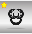 nipple black icon button logo symbol vector image