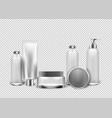 realistic cosmetics transparent background vector image