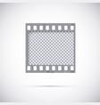 realistic frame of 35 mm filmstrip empty blanck vector image