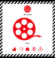 reel film symbol vector image