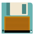 Retro diskette technology design vector image vector image