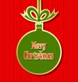 Retro style Christmas ball vector image vector image