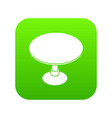 round table icon green vector image vector image