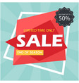 sale discount up to 50 limited time only i vector image vector image