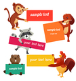 set labels with animals vector image