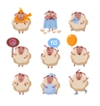 Sheep Cartoon Character Set vector image vector image