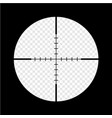 simple black sniper optical scope crosshair aim vector image