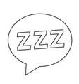 sleeping icon design vector image