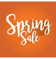 Spring Sale Lettering Design vector image vector image