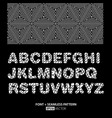 stylish monochrome font poster vector image vector image