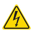 technical warning signs high voltage vector image
