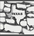 texas stone wall vector image